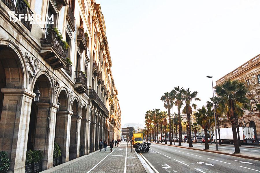 İspanya Barcelona Sokakları