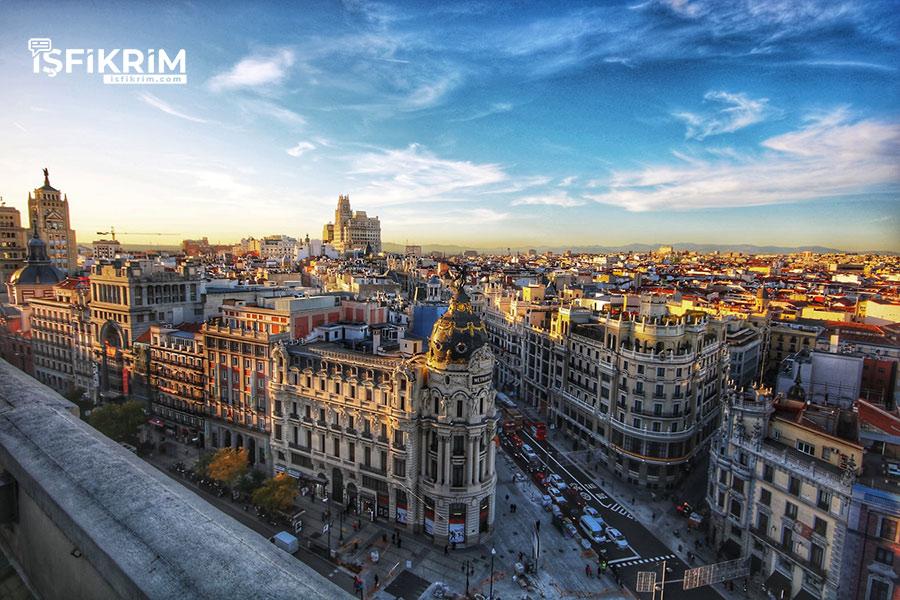 İspanya Madrid Sokakları
